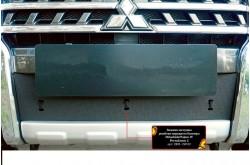 Заглушка решётки переднего бампера Mitsubishi Pajero 4 рестайлинг 2