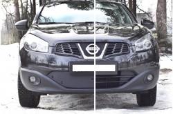 Заглушка решётки переднего бампера Nissan Qashqai рестайлинг