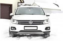 Заглушка решётки переднего бампера Volkswagen Tiguan рестайлинг