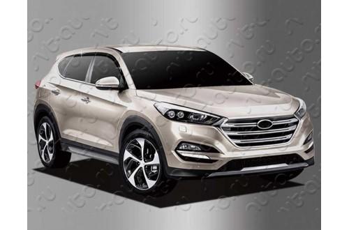 Дефлекторы окон из 6 частей Hyundai Tucson 3