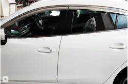 Хромированные дефлекторы окон Mazda 3 BM