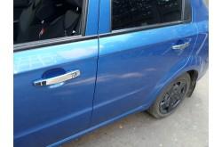 Хромированные накладки на ручки дверей Chevrolet Aveo 2 седан