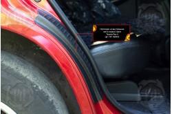 Накладки на внутренние части задних арок без скотча Toyota Rav 4 XA30 рестайлинг