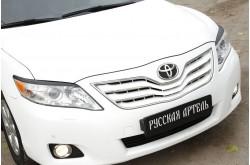 Реснички на передние фары укороченные Toyota Camry V40 рестайлинг