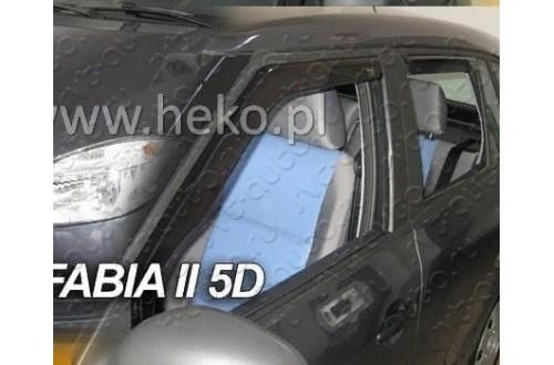 Вставные дефлекторы окон Skoda Fabia 2 универсал