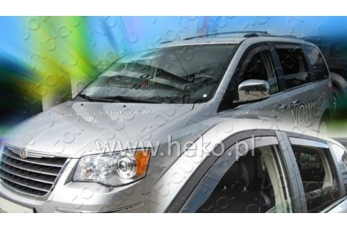 Вставные дефлекторы окон Dodge Caravan 5