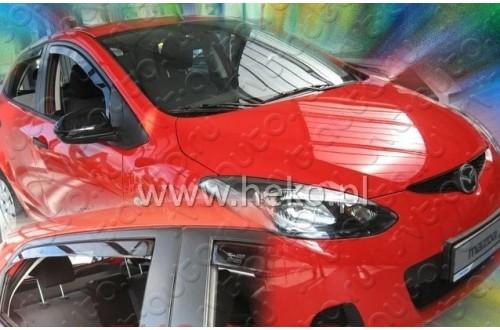 Вставные дефлекторы окон Mazda 2 DE