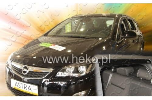 Вставные дефлекторы окон Opel Astra J универсал