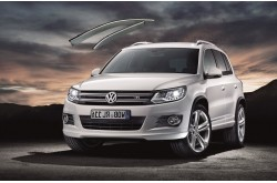 Дефлекторы с хром молдингом Volkswagen Tiguan
