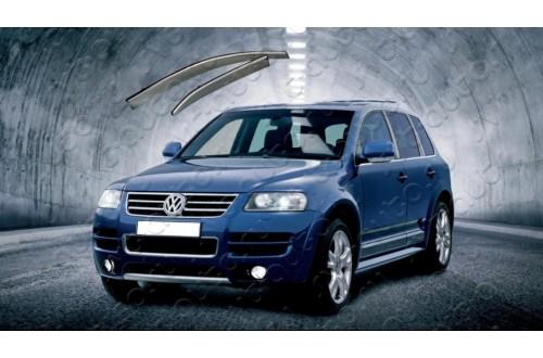Дефлекторы окон с хромированным молдингом VW Touareg GP