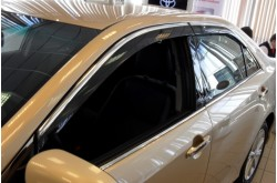 Дефлекторы окон с хром молдингом Toyota Camry  V50