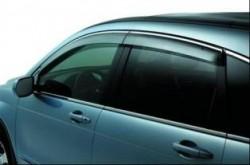 Дефлекторы Mitsubishi Pajero с хром молдингом