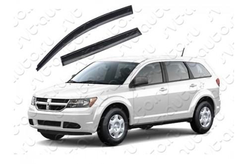Дефлекторы окон Dodge Journey с черным молдингом