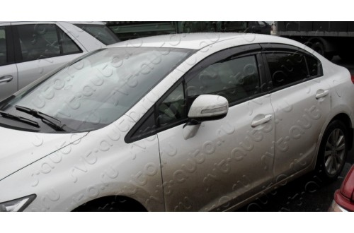Дефлекторы окон Mugen Honda Civic sedan 9