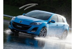Дефлекторы окон с хром молдингом  Mazda 3 BL hatchback