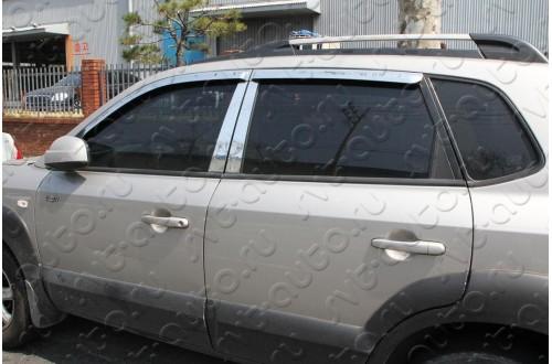 Хромированные дефлекторы Hyundai Tucson