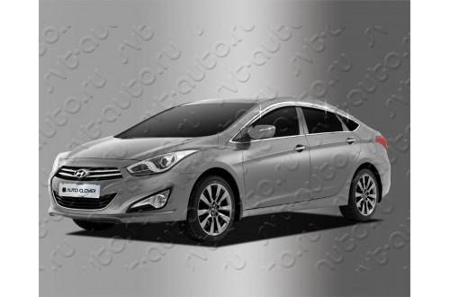 Хромированные дефлекторы окон Hyundai i40