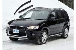 Дефлекторы окон с черным молдингом Mitsubishi Outlander XL