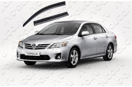 Дефлекторы окон с черным молдингом Toyota Corolla X