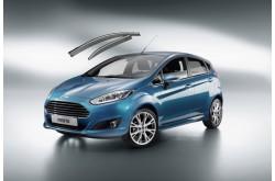 Дефлекторы окон с хром молдингом Ford Fiesta MK6 5 дверный хетчбек