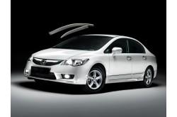 Дефлекторы окон с хром молдингом Honda Civic седан VIII