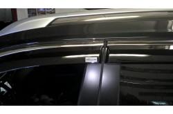 Дефлекторы окон с молдингом из нержавейки Nissan X-Trail T32
