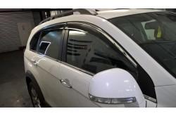 Дефлекторы Opel Antara с молдингом из нерж. стали