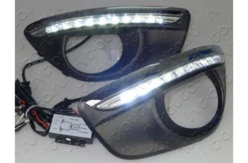 Дневные ходовые огни Hyundai Santa Fe II