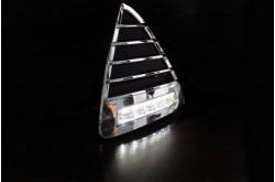 Дневные ходовые огни Ford Focus III с хромированным корпусом