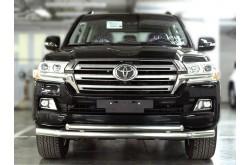 Защита переднего бампера двойная прямая Toyota LandCruiser 200 2015-н.в.