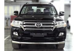 Защита переднего бампера одинарная Toyota LandCruiser 200 2015-н.в.