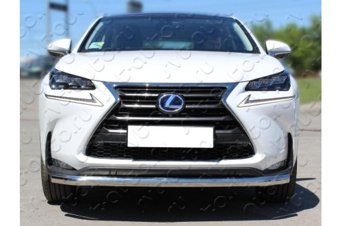 Защита переднего бампера одинарная Lexus NX