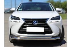 Защита переднего бампера двойная Lexus NX