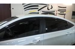 Дефлекторы Hyundai Solaris Mugen Style седан