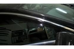 Дефлекторы Jaguar XF с хромированным молдингом
