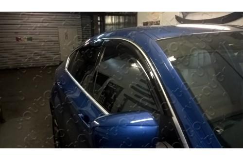 Дефлекторы окон  с хромированным молдингом BMW X6 E71